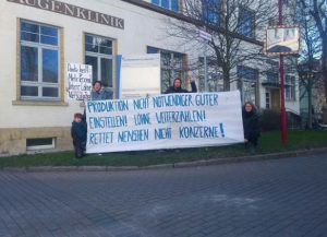 """""""Stop the production of non-essential goods! Keep on paying salaries. Save humans not companies!"""" Solidarity message from BMBF Junior Research Group 'Bioeconomy and Inequality', Friedrich Schiller University Jena, (Germany) (01/04)"""